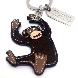 Coach Keychain RARE Gorilla Ape Monkey  Key ring